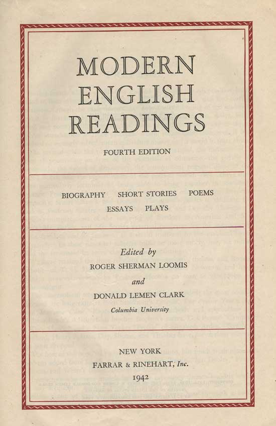 Modern English Readings - Title page
